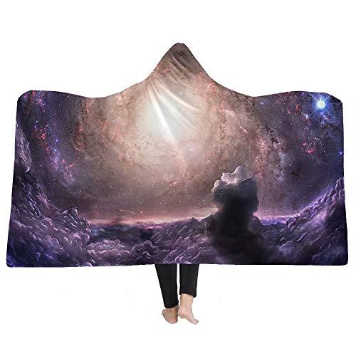 Mit Kapuze Decke 3d Galaxy Star Print Superweiche Dicke Doppelflanell Fleecedecke Star Und Moon Galaxy Erwachsene 2 Größen Für Freunde Zu Hause In Der