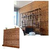 L-KCBTY Persiana Enrollable De Bambú - Cortina De Bambú, para Decoración De Estudio, Pantalla De Privacidad, Persianas Romanas Retro para Ventanas Y Puertas (Tamaño Múltiple)