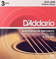 D'Addario EJ17-3D アコースティックギター弦/3セットパック×2SET