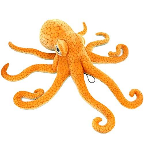 YunNasi Kuscheltier Krake Kreative Plüschtier Oktopus Kissen Naturgetreu Gestaltet, Prima als Spielzeug Geschenke für Kinder (80cm)