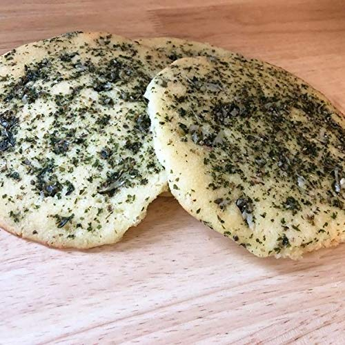 Focaccia Bread With Garlic. Pack of 3X5' Halal, Organic, Keto, Gluten-free, Sugar-free, Natural, Fresh and Non-GMO. (Pack of 3 Bread)
