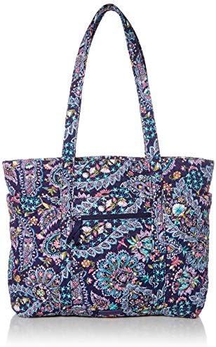Vera Bradley womens Signature Cotton Deluxe Vera Tote Handbag French Paisley One Size US product image