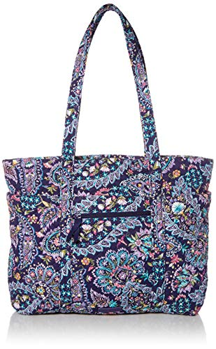 Vera Bradley womens Signature Cotton Deluxe Vera Tote Handbag, French Paisley, One Size US