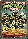 metal tin sign 2 Pcs Benson Teenage Mutant Ninja Turtles Cereal Box Art 12' x 8' Retro Look