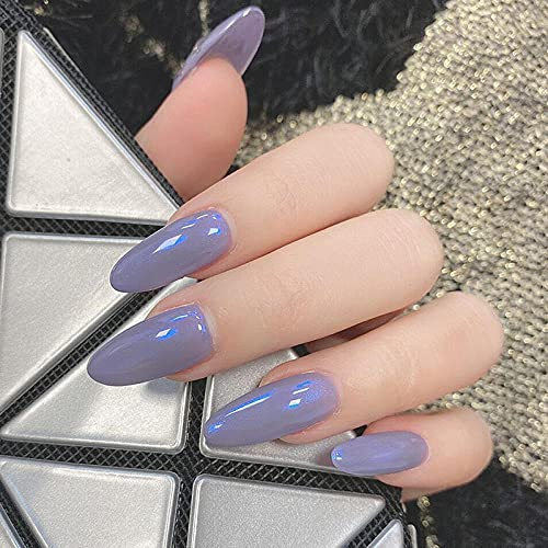 Faux ongles Fake nails with designed Adhesive Nail Beauty in Purple Long Detachable Attractive Fashion Stype for Women's Daily