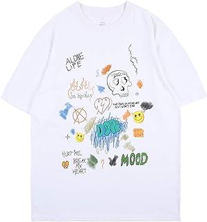 Arnodefrance Hip Hop Rapper Graffiti Tshirt Cotton Tee Shirt Crew Neck Short Sleeve Shirt