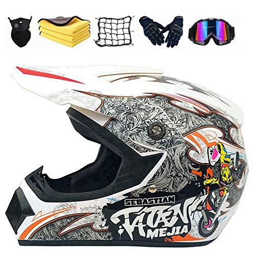 XIAOL Casco Enduro para motocross, bicicleta de montaña, casco ATV, Tapa, D.O.T,...
