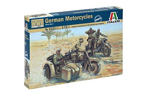 Italeri 6121 - WWII German Motorcycles modellismo soldatini Scala 1:72