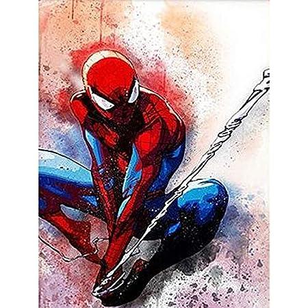 DIY Full 5D Diamond Painting Embroidery Spiderman Cross-Stitch Kit Handmade