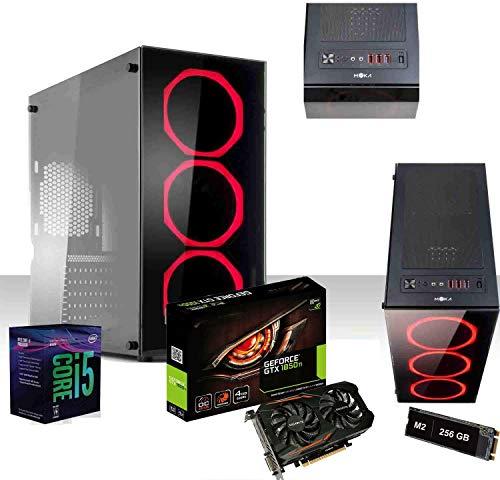 Pc Desktop Gaming i5-9600k 4.6 ghz Six-Core/Gtx 1050ti 4Gb Ddr5 4k/Windows 10 Pro 64bit/Wifi 300 Mbps/Ssd m2 256gb+Hdd 1tb/Ram 8gb Ddr4 2666Mhz/Modulare 80 Plus/Editing Gaming