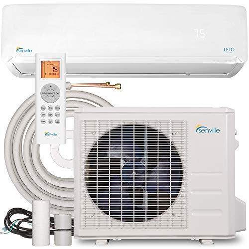 Senville SENL-09CD Mini Split Air Conditioner Heat Pump, 9000 BTU 110/120V, White