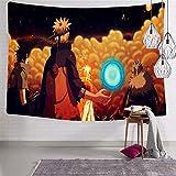 3354 Na-ru-to 8 Tapiz para colgar en la pared, suave y divertido, tapices para dormitorio de 188 x 222.5 cm
