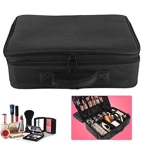 Lecxin Trousse de Rangement de Maquillage, Sacs à cosmétiques de Grande capacité, pour Rouge à lèvres pour pinceaux de(42 * 29 * 13cm-Upgraded Three-Layer Tattoo kit-Black)
