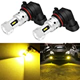 Phinlion 3800 Lumens 9006 Yellow Fog Light Bulbs Super Bright HB4 9006 LED Bulb Replacement for Car Truck Fog Lights and DRL Lamps, 3000K Golden Yellow