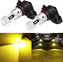 Phinlion 3800 Lumens 9006 Yellow Fog Light Bulbs Super Bright HB4 9006 LED Bulb Replacement for Car Truck Fog Lights or DRL Lamps, 3000K Golden Yellow