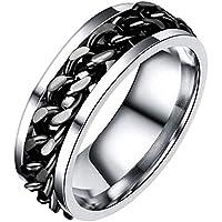 DXXWANG 指輪 男性用 リング クリエイティブ ノベルティ ステンレス鋼 回転させる ジュエリー 、 記念日 お誕生日 贈り物 、 / Black / #6