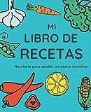 Mi Libro De Recetas: Recetario XL para Escribir Tus Platos Favoritos; color: Huerto Azul