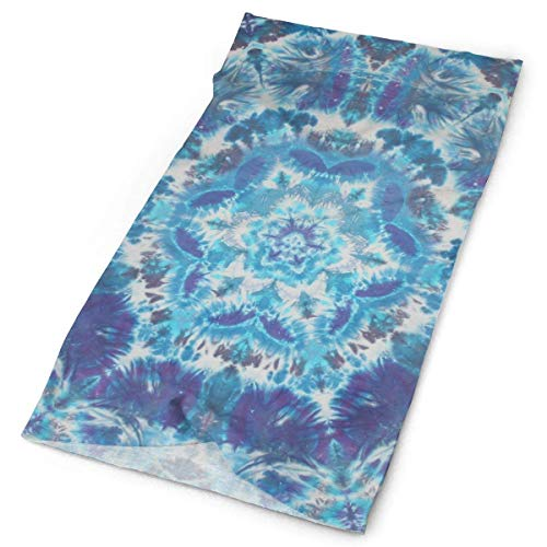 Voxpkrs Multipurpose Blue Tie Dye Patterns Original Headband with Multi-Function Sports and Leisure Headwear UV Protection Sports Neck, Sweat-Absorbent Microfiber Running, Yoga, Hiking