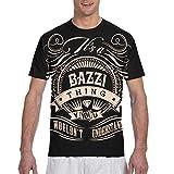 JustinLSullivan Bazzi T Shirts Men Printed Crewneck Short Sleeve Summer Top Tee XL Black