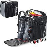 Otaro ® Premium Bolsa para Botas de esquí con Compartimento para Casco (Classic: Gris/Negro)