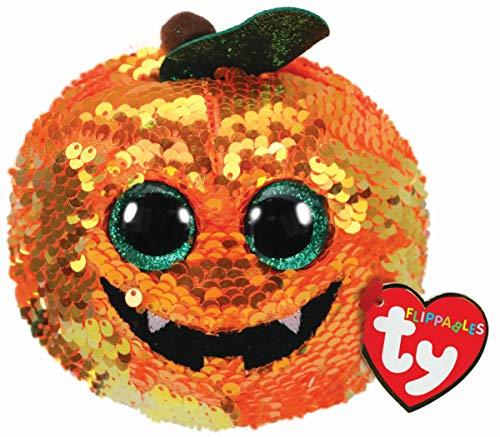 Ty - Peluche de Calabaza Flexible pequeña, 15 cm, TY36333, Multicolor