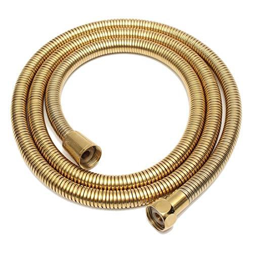 Manguera Ducha, Flexo De Acero 1,5 m Oro cabeza de ducha de la manguera larga espiral de acero inoxidable tipo flexible Baño tubo del agua de ducha Tubos Tubo Mangueras de fontanería ( Color : Gold )