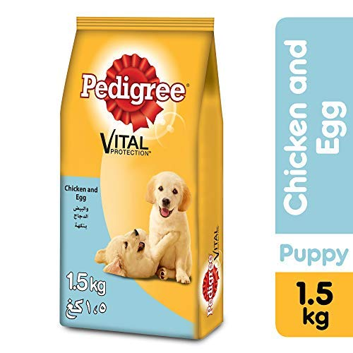 Pedigree Puppy, Dry Food, Nutri Defense Chicken, Egg and Milk Flavor 1.3 kg