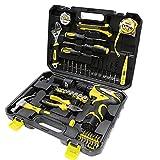 WMC TOOLS Werkzeug Set 34-teilig Werkzeug Haushalt Werkzeugkoffer für Heimwerker und Profi mit...