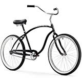 Firmstrong Chief Man Single Speed Beach Cruiser Bicycle, Black, 21.5 inch / Large