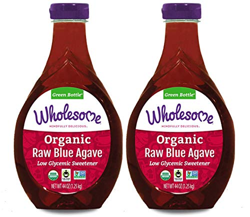 Wholesome Sweeteners Organic Raw Blue Agave Nectar, Natural Low Glycemic Sweetener, Non GMO, Fair Trade & Gluten Free, 44 oz (Pack of 2)