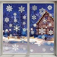 LOKIPA クリスマス 飾り 静電ステッカー ホワイト オーナメント 48PCS入り 剥がせる 汚れない ウォールステッカー 静電気シール クリスマス ガラスシール 窓ステッカー 雪 スノーフレーク 壁飾り 小物 部屋 装飾品 インテリア (AR086)