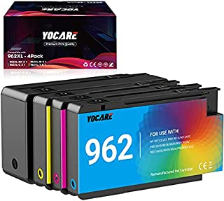 YOCARE Remanufactured Ink Cartridge Replacement for HP 962 Combo Pack for HP OfficeJet Pro 9010 9012 9015 9028 9019 9020 9...