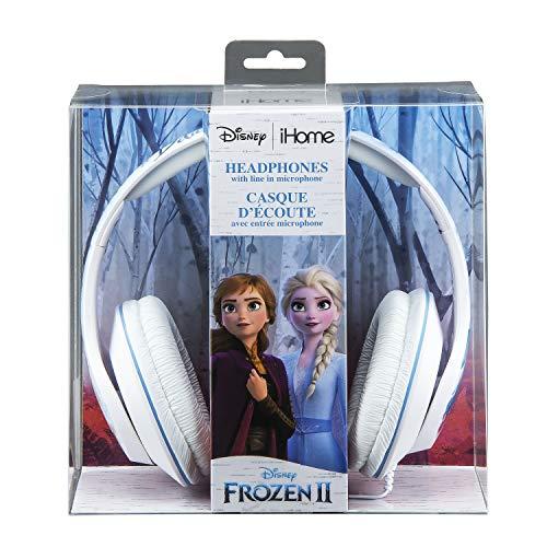 eKids Di-M40FRV2 gelicentieerde Disney ijskoningin Frozen 2 koptelefoon met geïntegreerde microfoon en muziekbediening; in grootte verstelbaar voor het beste draagcomfort