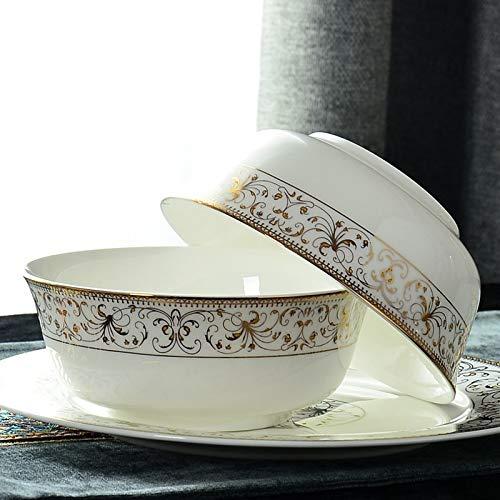 6 Inch Round Rice Bowl Chinese Porcelain Soup Bowl Salad Bowl Microwave Bone China Tableware Phnom Penh Bowl|rice bowl