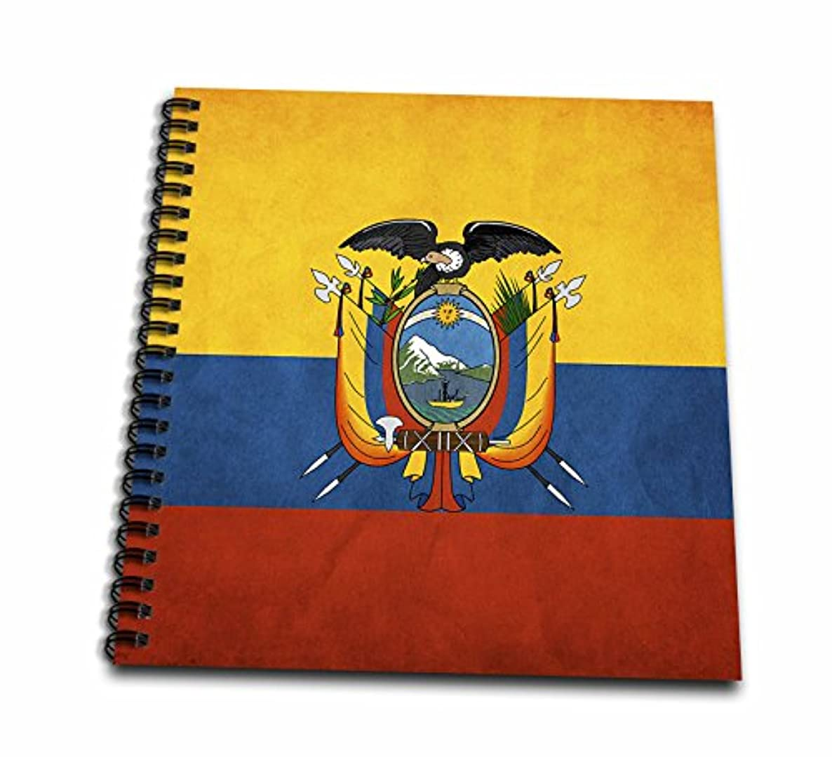 3dRose db_28242_2 Ecuador Flag Memory Book, 12 by 12-Inch
