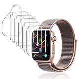 DASFOND Protector de Pantalla para Apple Watch Series 5/4 40mm, [6 Packs] Pel...