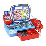 Caja registradora con un escáner Escala de pesaje electrónico de Kid Real Calculadora Multifuncional Juguete Juguetes para niños