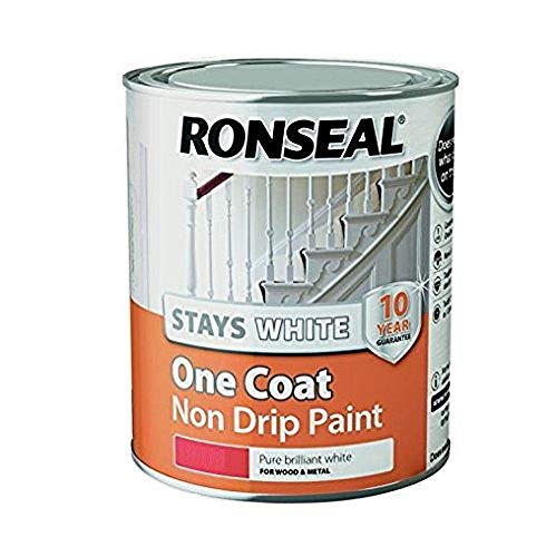 Ronseal RSLOCSWGP25L One Coat Stays Gloss Paint,...
