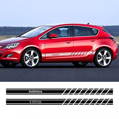 Fit für Opel Astra JHGK Insignia Corsa DBE Mokka Vectra B, Autotür Seitenschweller Streifen Aufkleber Sport Racing Aufkleber Verblasst Nicht Sonnenschutz