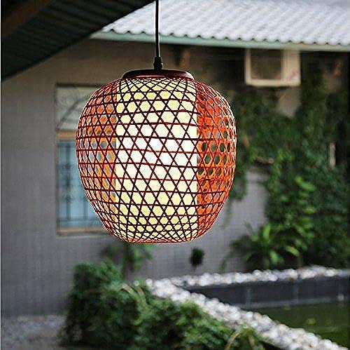 YUSHI Restaurant de l'asie du Sud-Est Petit Lustre Aisle Tea Ensemble de Bambou à la Main Art créatif