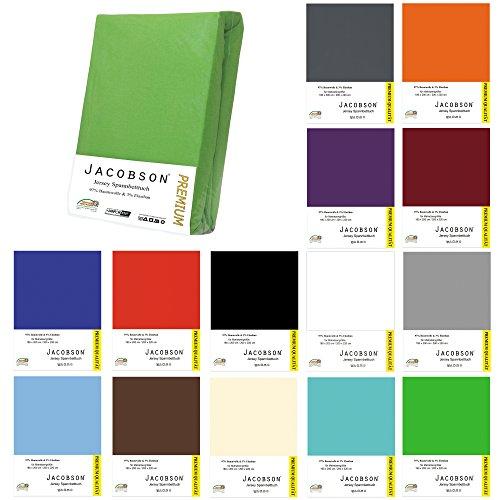 Jacobson Premium Wasserbett Spannbettlaken Spannbetttuch mit ELASTHAN ca. 200 g/m² 180-200 x 200-220 cm (180-200 x 200-220 cm, Grau)