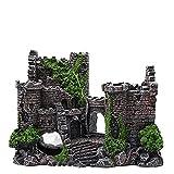 GaoF Accesorios para peceras Adorno de Acuario de Resina, Decoración de Acuario Castillo de Piedra, Accesorios de Acuario de Resina Adornos de Agua para Tortugas camarones pequeños