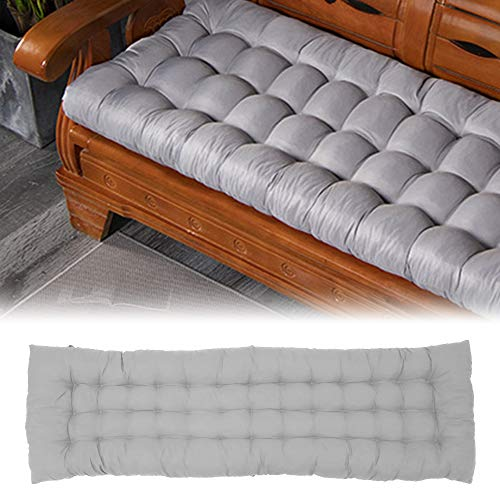 Indoor/Outdoor Bench Cushion,Patio Loveseat Swing Cushion for Lounger Garden Furniture Patio Lounger Bench (Gray, Loveseat)