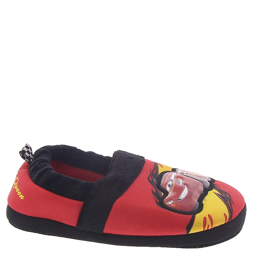 Image of Black and Red Disney Cars Slippers for Toddler Boys