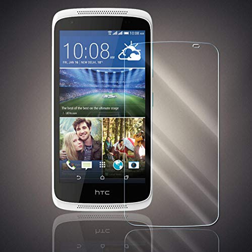 Panzerfolie für HTC Desire 526G Panzer Schutzglas Folie Premium Bildschirmschutzfolie [Screen Protector] 9H HD Glasfolie Hartglas Schutzfolie Displayschutz