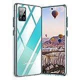Whew Crystal Clear Samsung Galaxy A51 Hülle, [Transparent Anti-Gelb] Hard PC und Soft Silikon Ultra Hybrid Samsung Galaxy A51 Handyhülle Durchsichtig Silikon Schutzhülle Slim Hülle