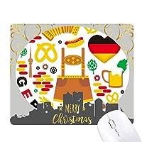 ドイツの旗の文化習慣のランドマーク クリスマスイブのゴムマウスパッド