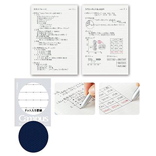 『コクヨ キャンパスノート ドット入り B罫 50枚 A5 ノ-105BT-DB 【5冊セット】』の2枚目の画像