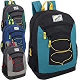 Wholesale 24 Case Bundle of 18 Inch Bulk Backpacks with Bungee Cord and Padded Adjustable Straps (Boys)