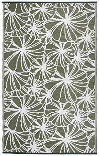 Esschert Design Tapis de Jardin réversible Motif Floral